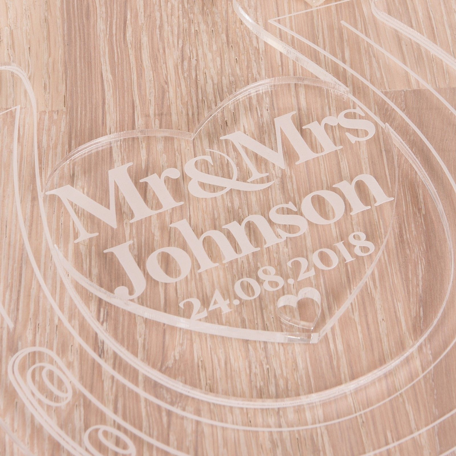 Little Gifts With Love - Personalised Acrylic Mr & Mrs Wedding Lucky Horseshoe Bridal Keepsake Gifts