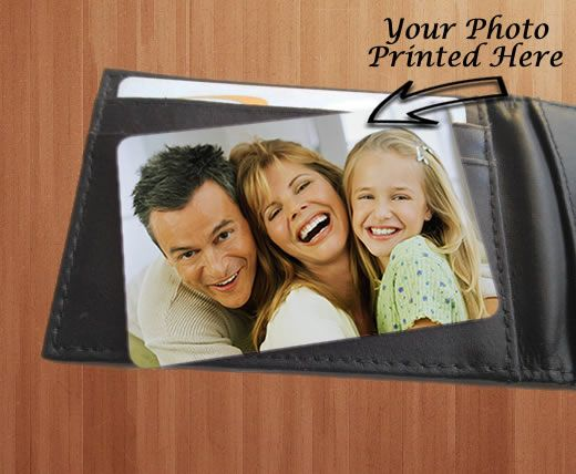 Little Gifts With Love - Personalised Aluminium Metal Mini Photo Wallet Or Purse Insert Card