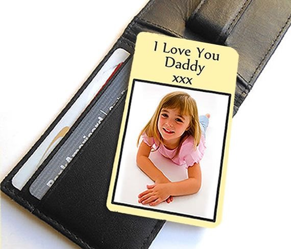 Little Gifts With Love - Personalised Aluminium Photo Wallet Or Purse Insert Card 4 colours to choose from