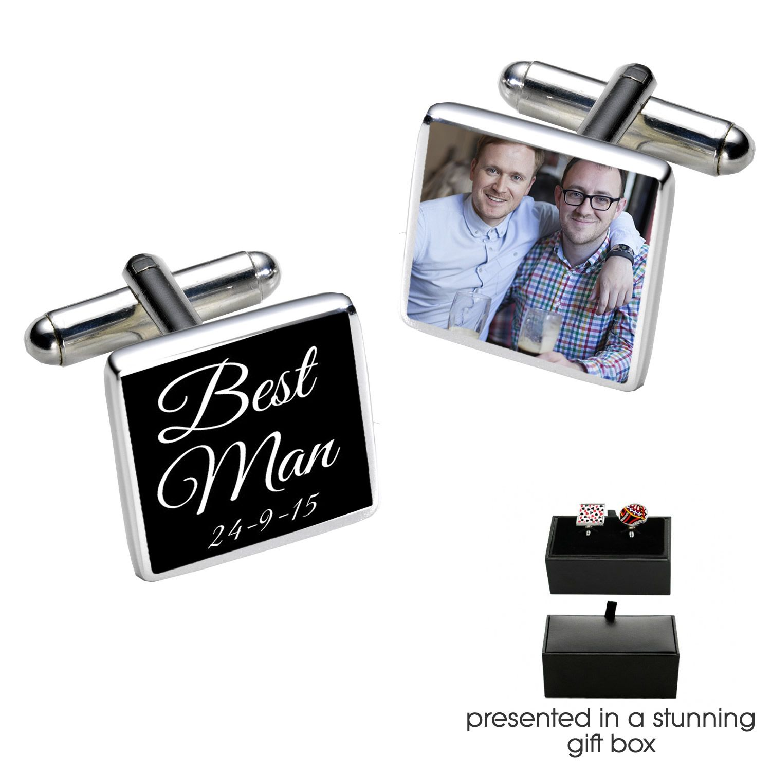 Little Gifts With Love - Personalised Father Of The Bride Wedding Day Cufflinks