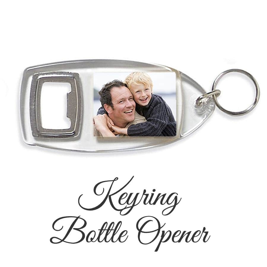 Little Gifts With Love - Personalised Bottle Opener Keyring Add Any Photo or Image