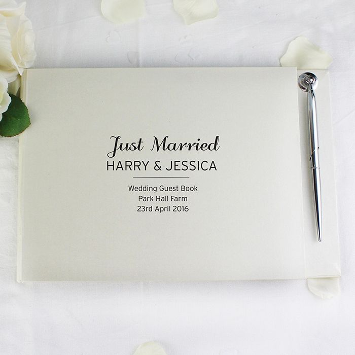 Little Gifts With Love - Personalised Classic Guest Book & Pen
