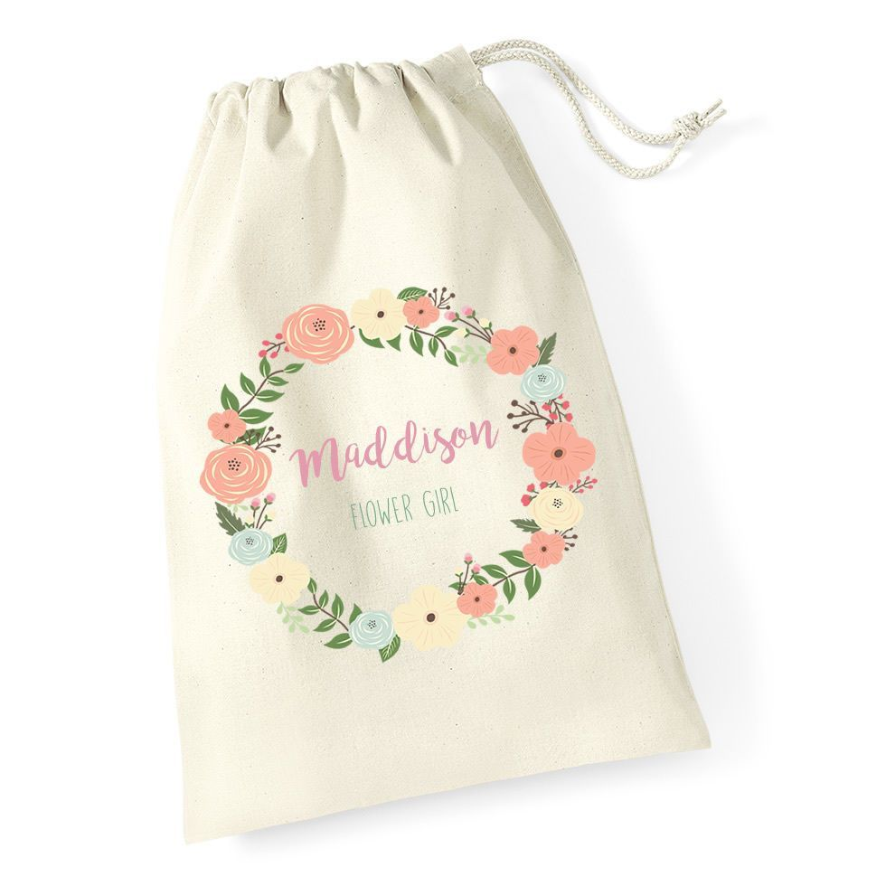 Little Gifts With Love - Personalised Flower Girl Wedding Day Activity Wedding Favour Gift Bag