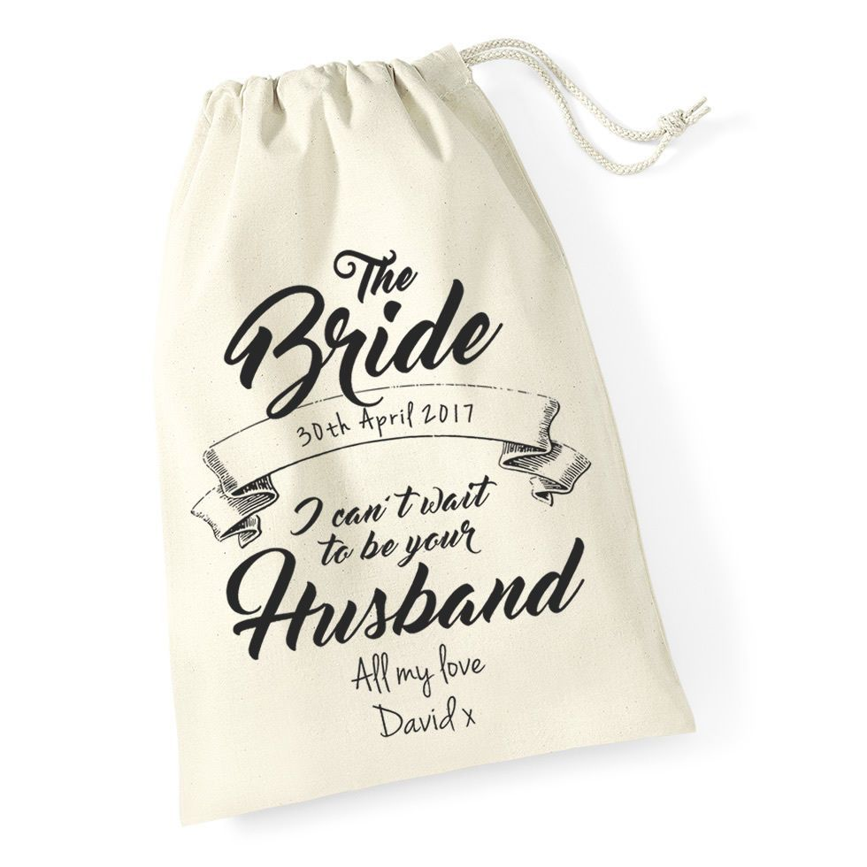 Little Gifts With Love - Personalised Gift Bag for The Bride on Wedding Day, Morning Wife to be gift