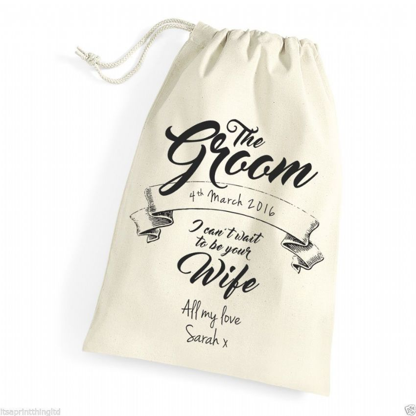 Little Gifts With Love - Personalised Gift Bag for The Groom on his Wedding Day; Morning Husband to be Gift