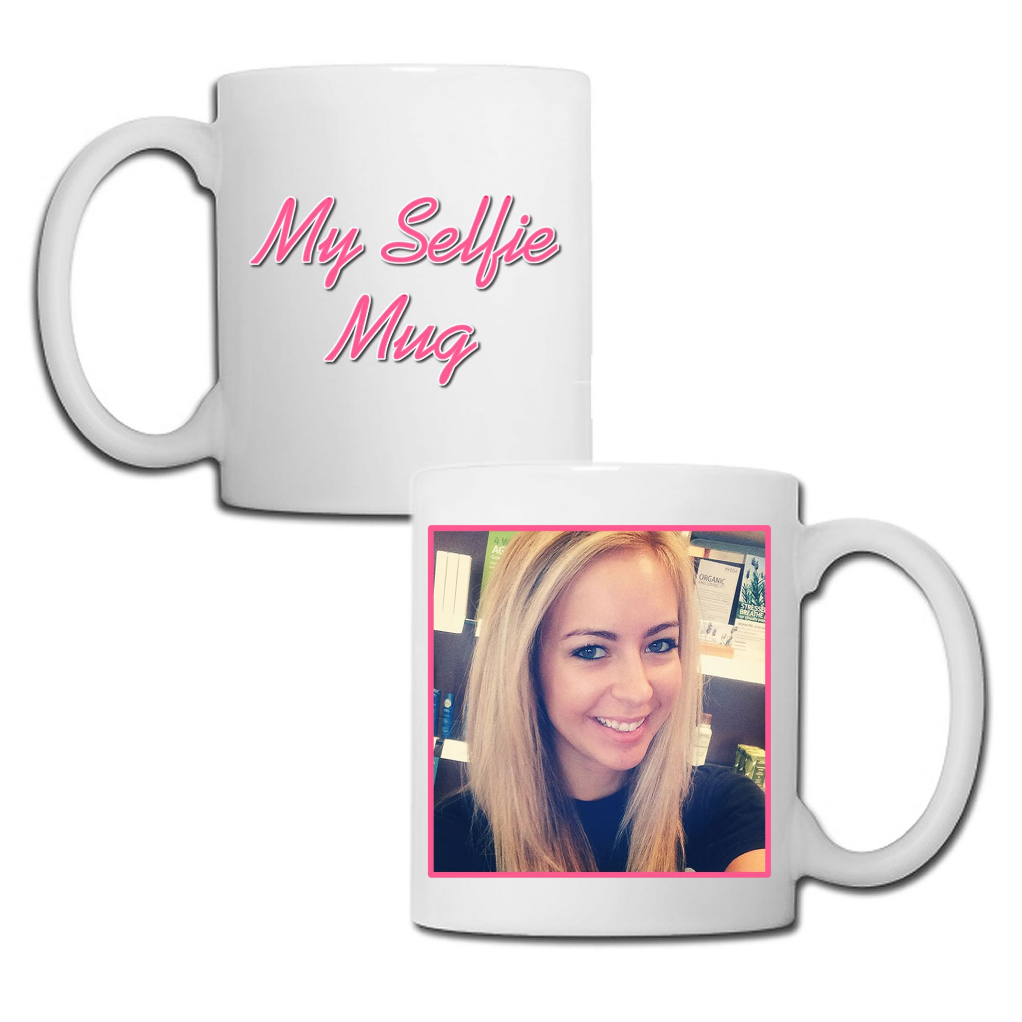 Little Gifts With Love - Personalised Girls My Selfie Photo Mug + Free Standard Delivery