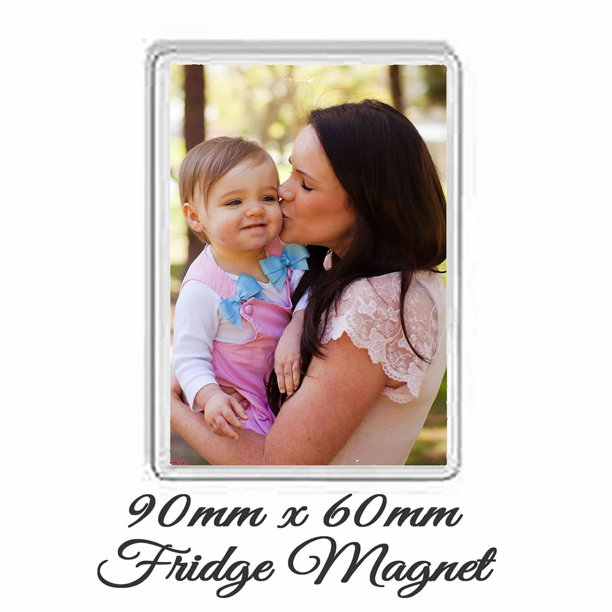 Little Gifts With Love - Personalised Jumbo Fridge Magnet 90mm x 60mm Add Any Photo or Image