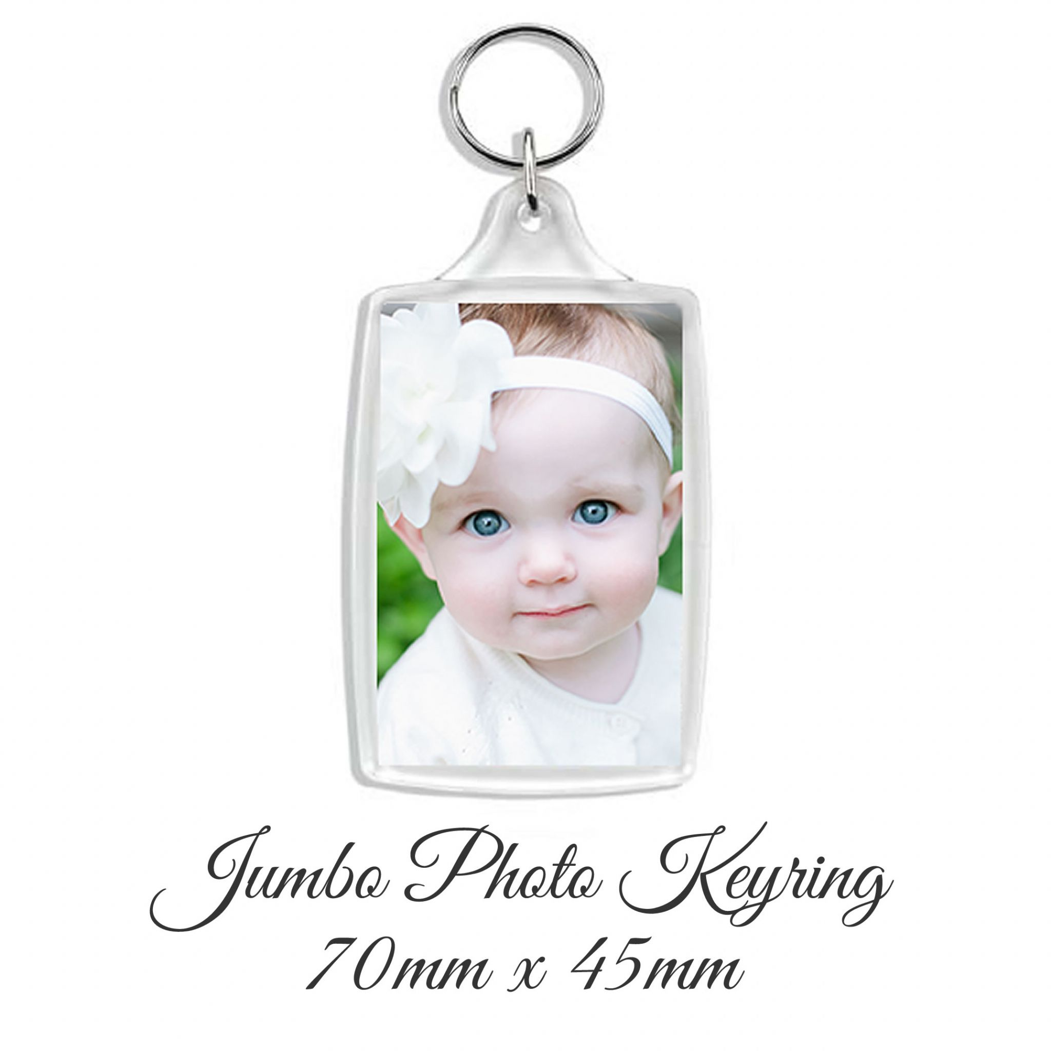 Little Gifts With Love - Personalised Photo Keyring 50mm x 35mm Add Any Image or Photo