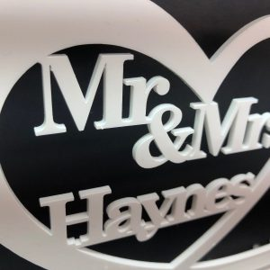 Little Gifts With Love - Personalised Mr & Mrs Top Table Sign & Date Mr and Mrs Wedding Decoration Gift