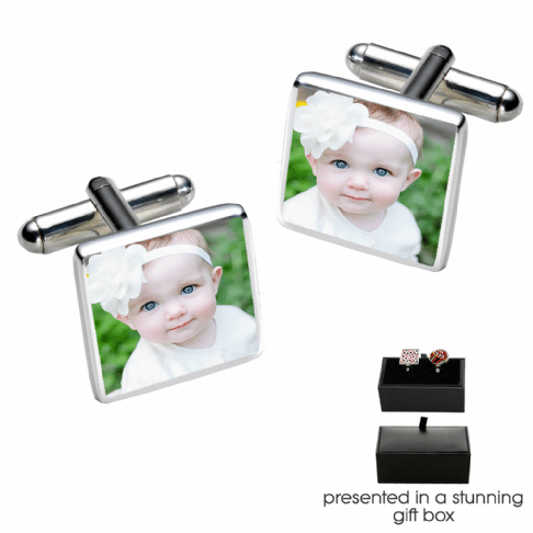 Little Gifts With Love - Personalised Photo Cufflinks