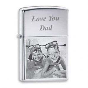 Little Gifts With Love - Personalised Photo Engraved Zippo Style Petrol Lighter