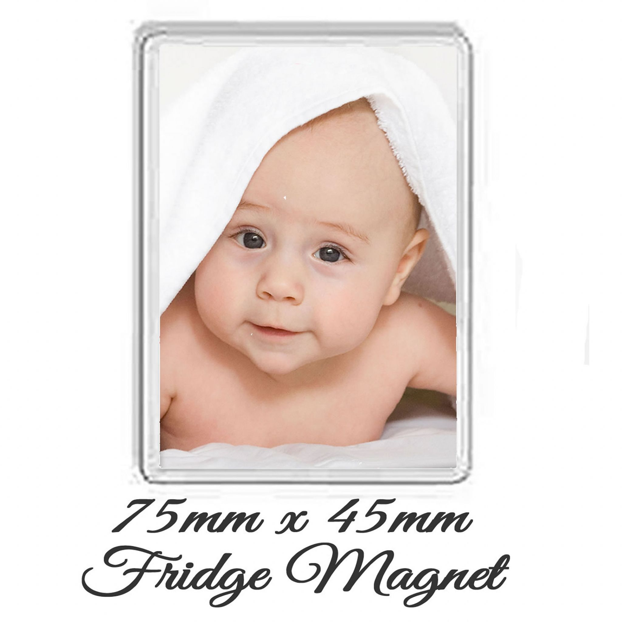 Little Gifts With Love - Personalised Photo Fridge Magnet 75mm x 45mm Add Any Photo or Image