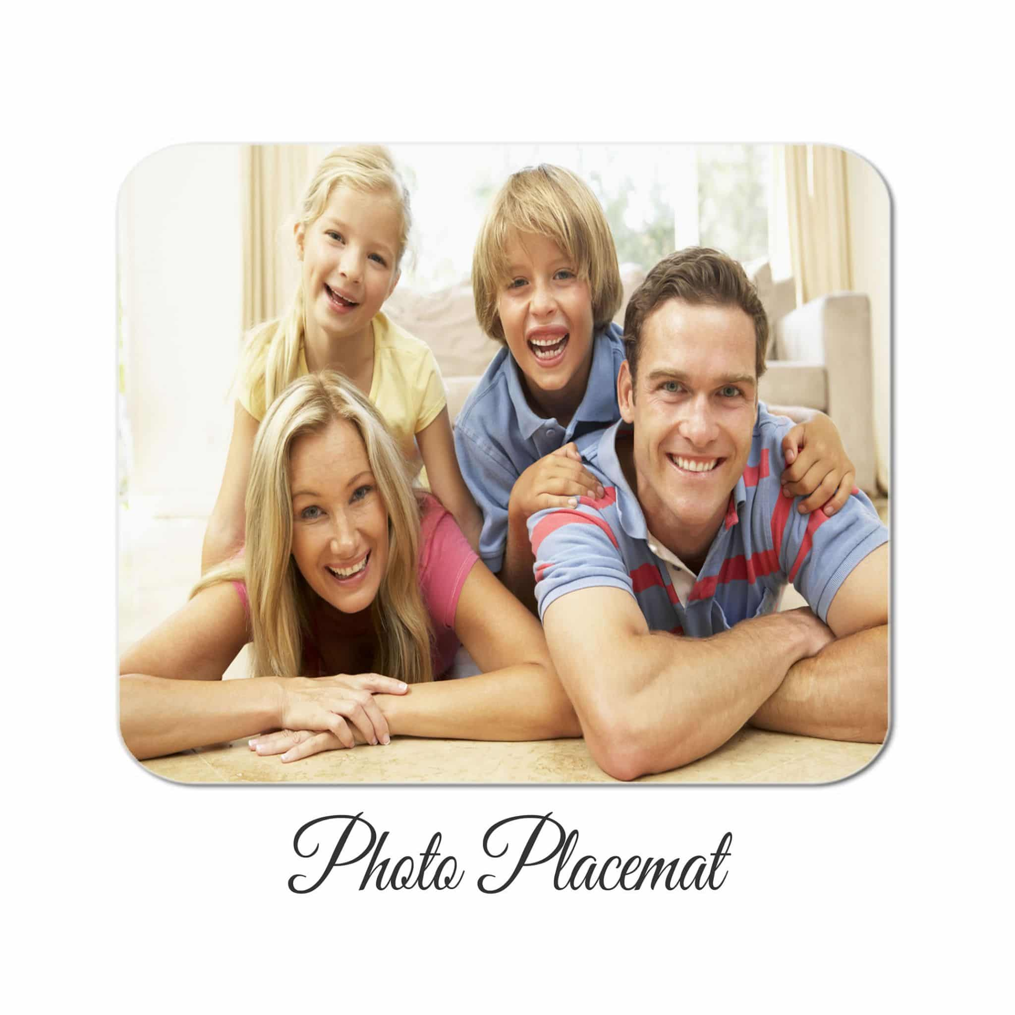 Little Gifts With Love - Set of 4 Personalised Photo Table Placemats