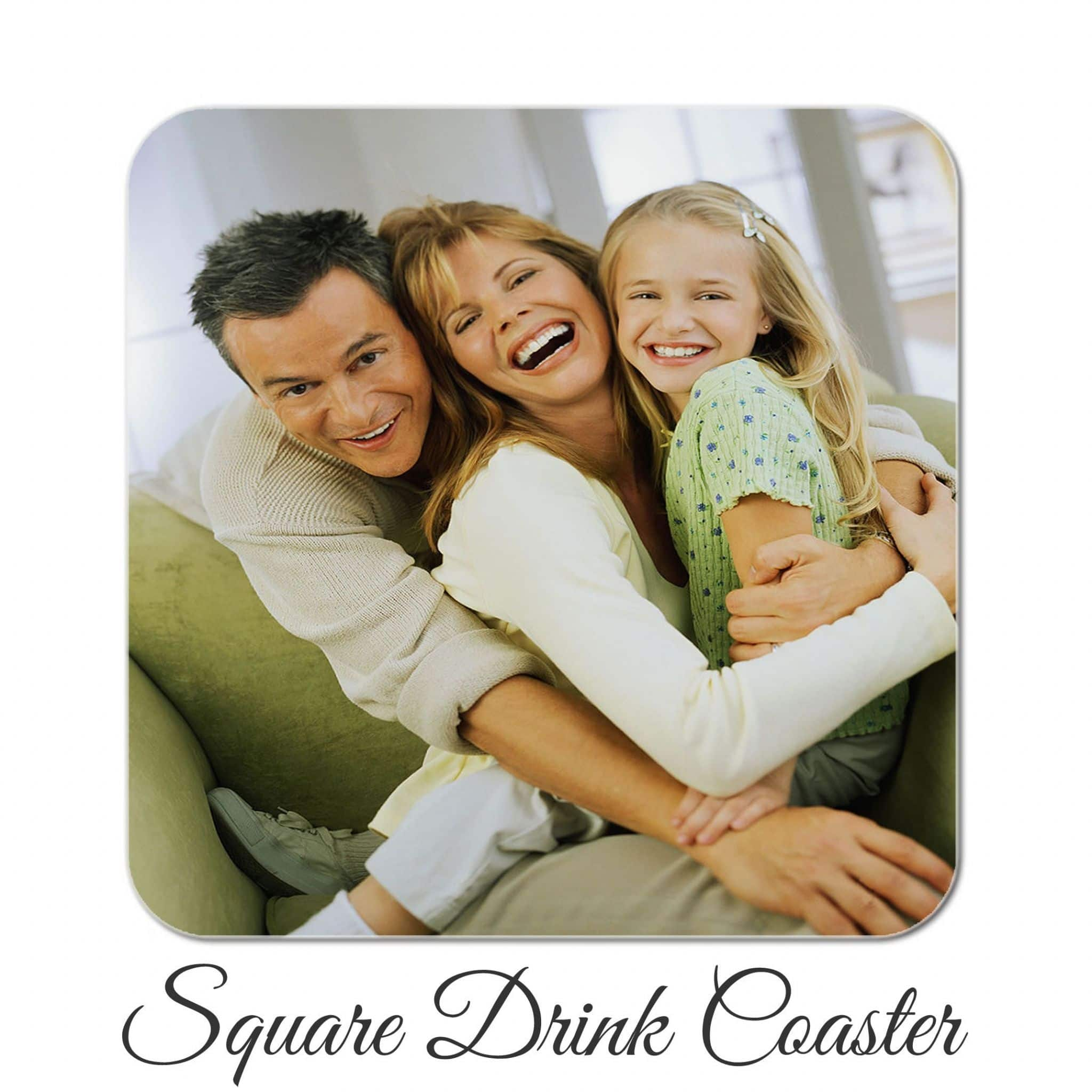 Little Gifts With Love - Personalised Photo Square Drink Coaster With Your Own Photo or Image