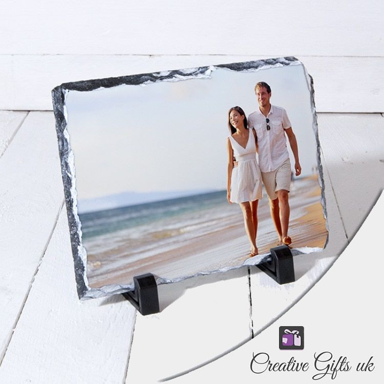 Little Gifts With Love - Personalised Rectangle Photo Stone Slate 14cm x 19cm