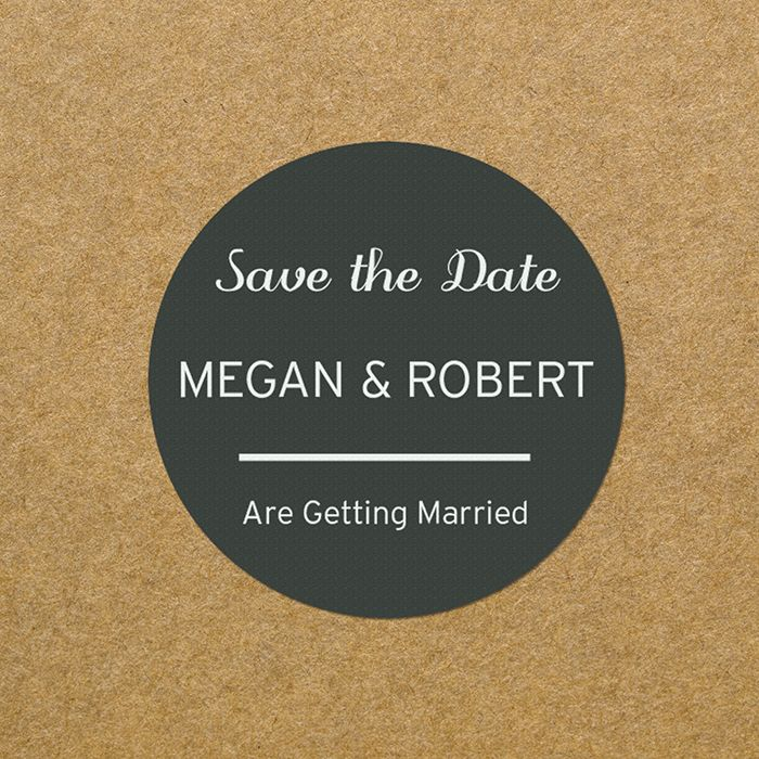Little Gifts With Love - Personalised Save The Date, Wedding Invite Classic Stickers