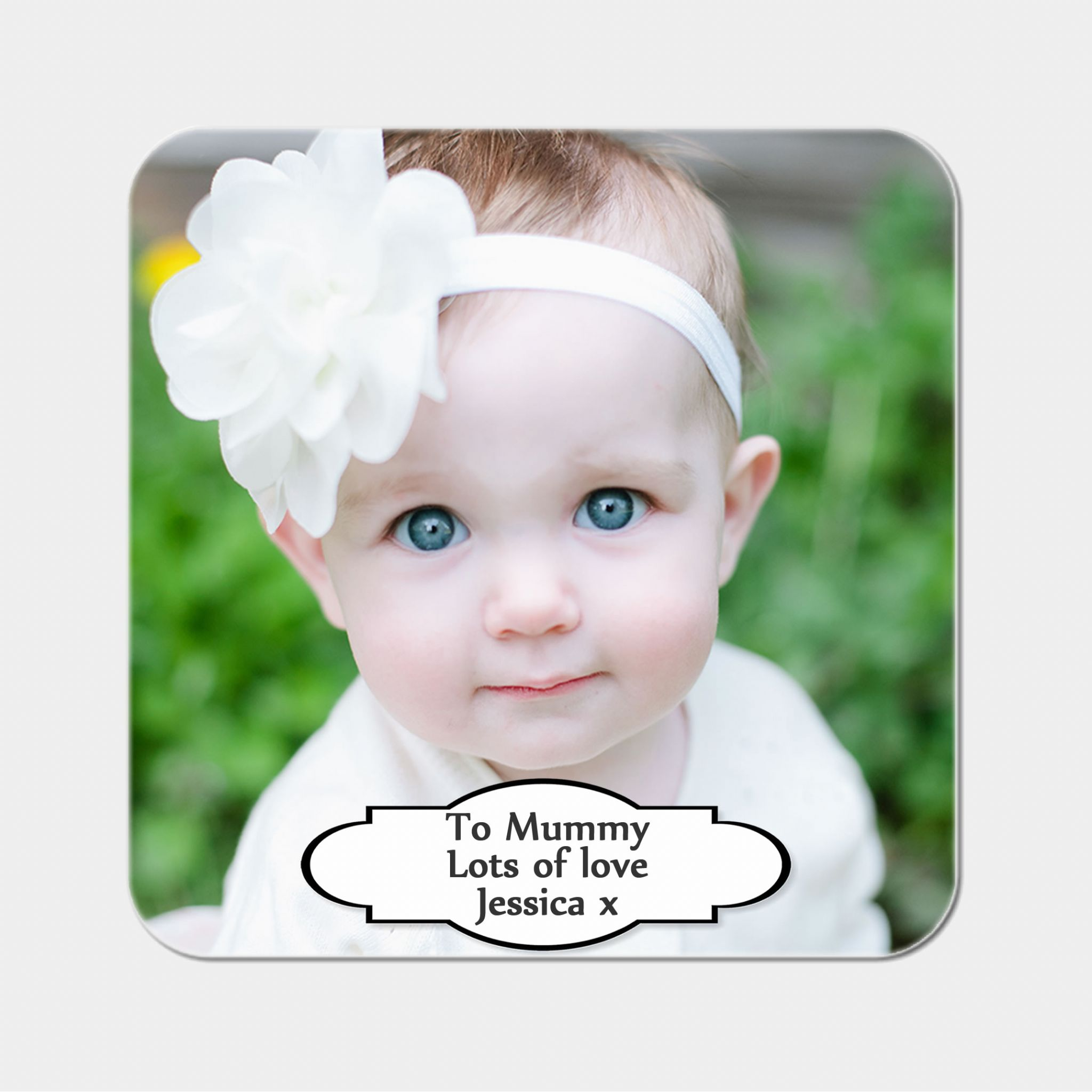 Little Gifts With Love - Personalised Round Drink Coaster Add Any Photo or Image + Free Delivery