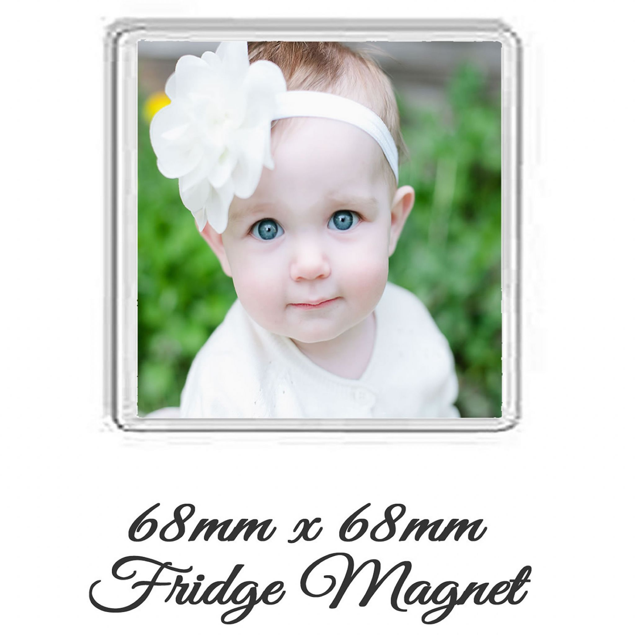 Little Gifts With Love - Personalised Square Photo Fridge Magnet 68mm x 68mm Add Any Photo or Image