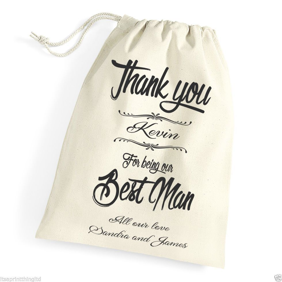Little Gifts With Love - Personalised Thank You Best Man, Usher, Groomsman, Wedding Favour Gift Bag