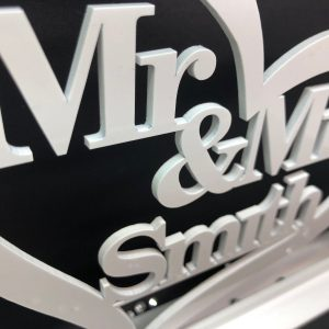 Little Gifts With Love - Personalised Top Table Mr & Mrs Sign & Date, Mr and Mrs Wedding Decoration Gift