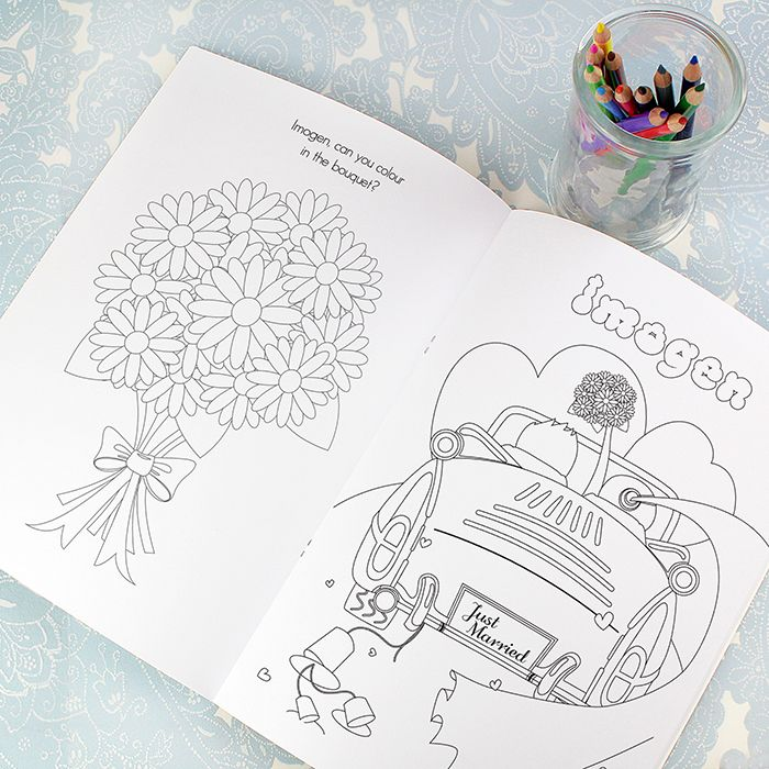 Little Gifts With Love - Personalised Wedding Activity Book for Girls
