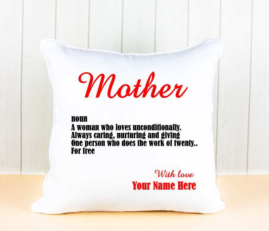Little Gifts With Love - Personalised White Luxury Cushion Cover Mother/Mum day celebration