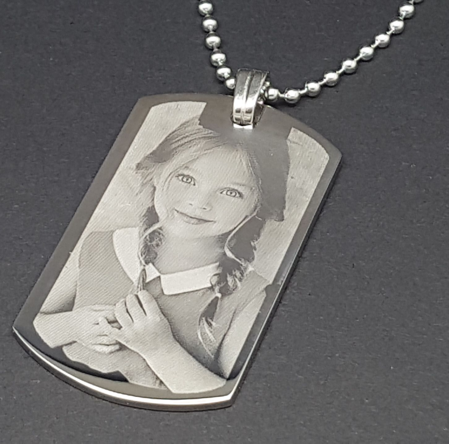 Little Gifts With Love - Rectangle Personalised Family Photo Engraved Keyring / Keychain