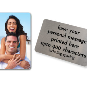 Little Gifts With Love - Personalised Aluminium Photo & Text Credit Card Size Wallet Or Purse Insert Gift Card