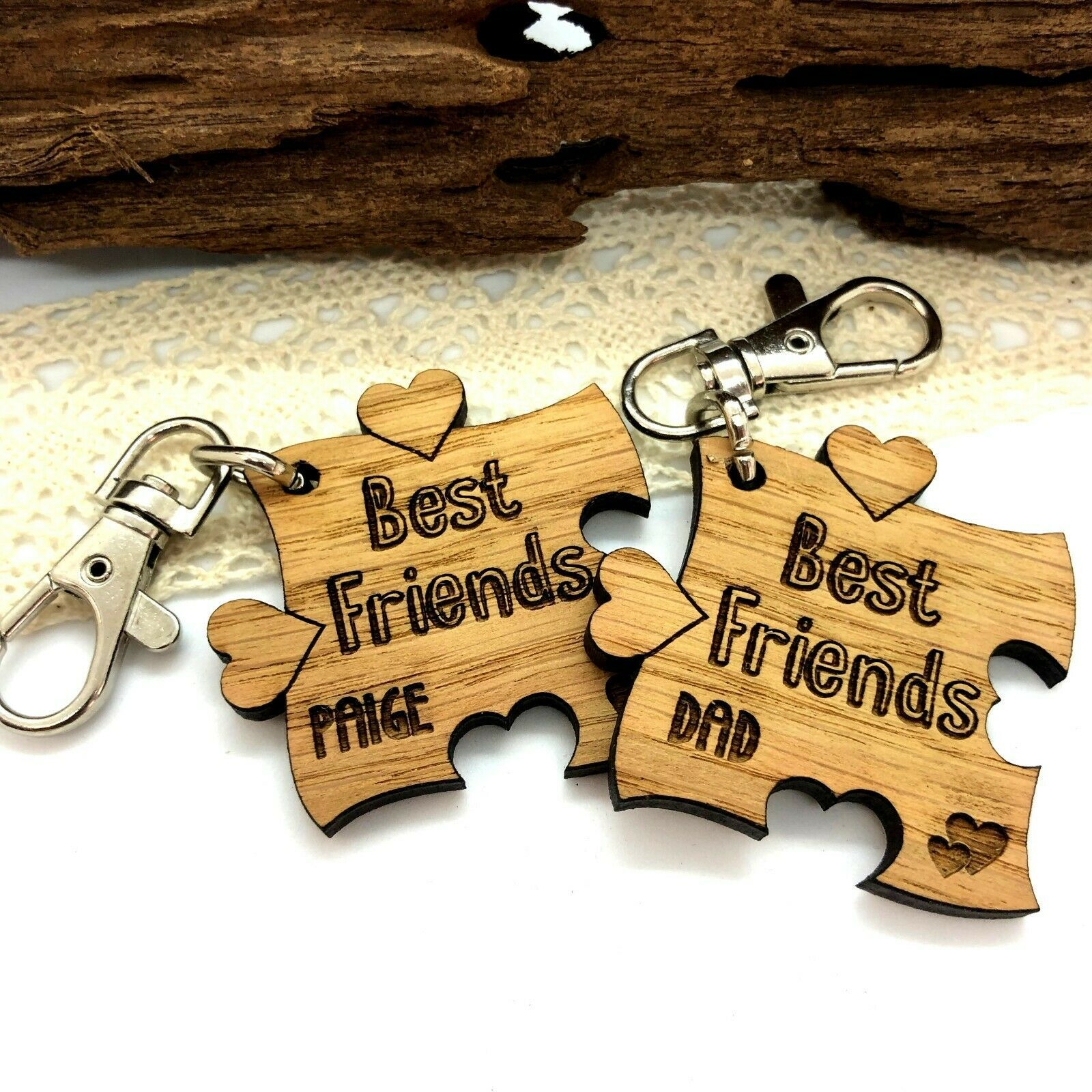 Little Gifts With Love - Personalised Teacher, Teaching Assistant, Apple Keyring, End of Term, Year Gift (Copy)