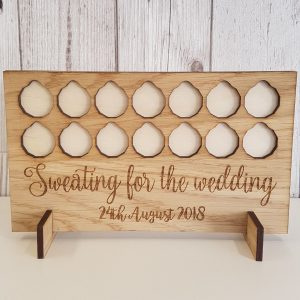 Little Gifts With Love - SWEATING FOR THE WEDDING Pounds for Lbs REWARD WEIGHT LOSS BOARD WOOD, SLIMMING WORLD