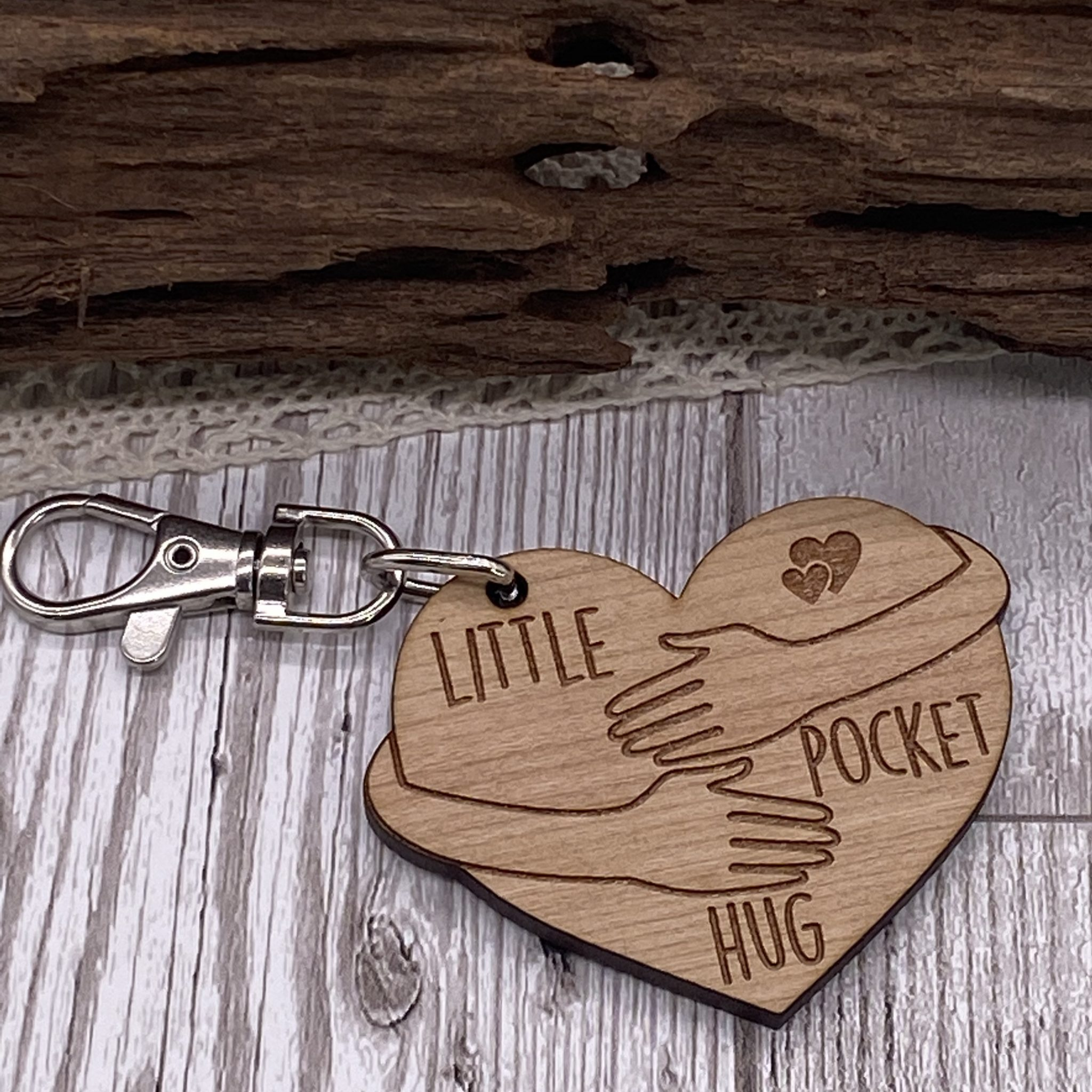 Little Gifts With Love - Little Pocket Hug Heart Loved Ones in need Hug NHS, Keyworker Keyring Gift