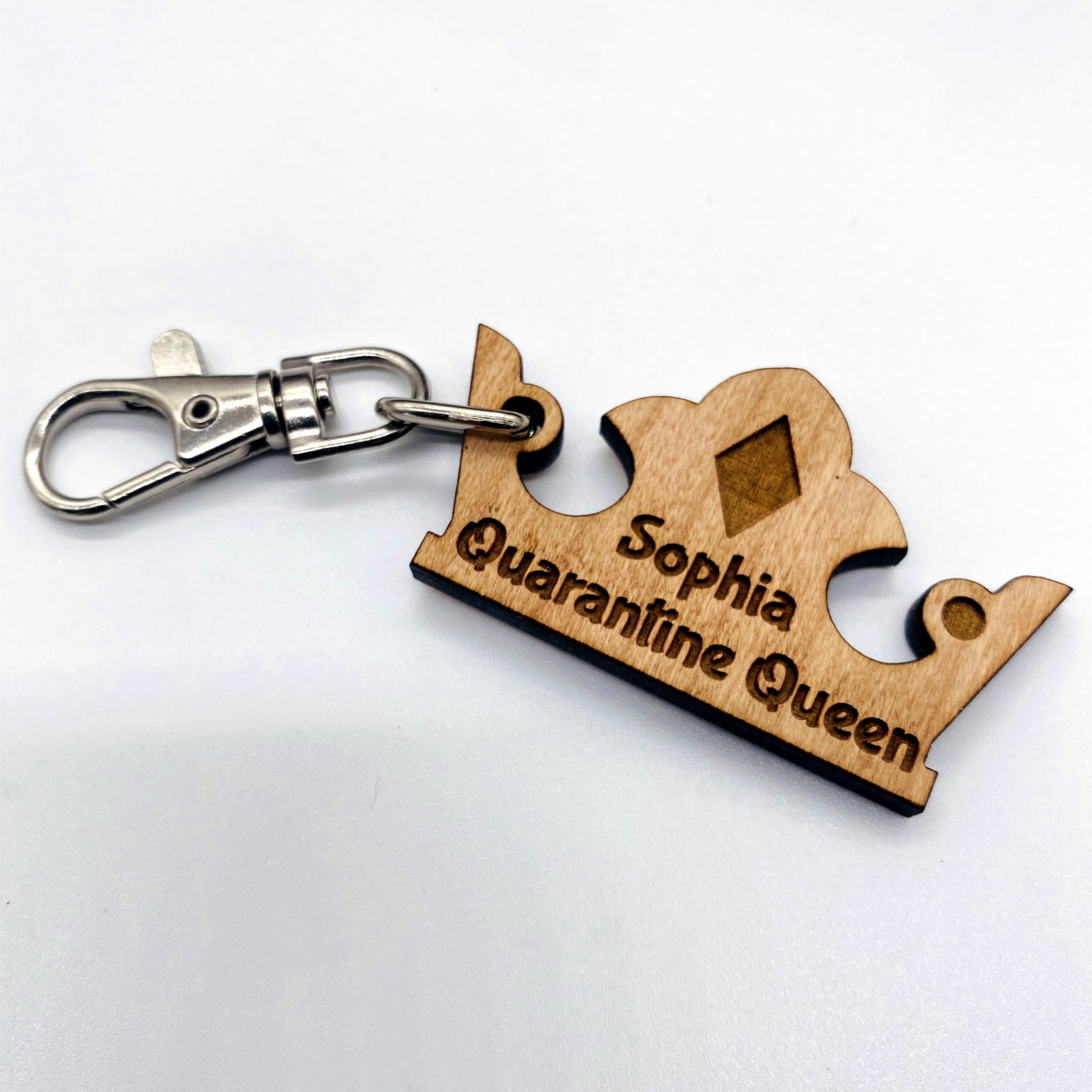 Little Gifts With Love - Personalised Quarantine Queen Keyring