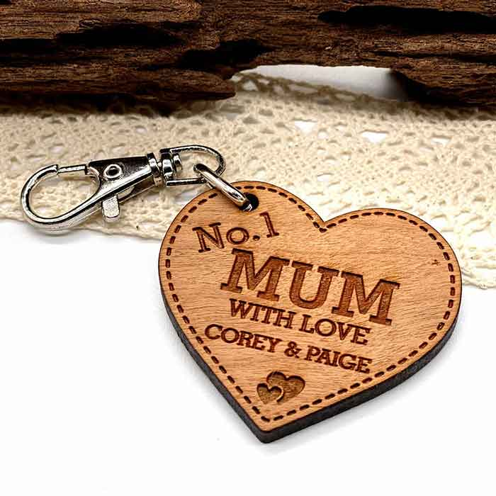 Little Gifts With Love - Personalised Gift For Him No1 Mummy Mothers Day Keyring, Grandama Birthday Gifts