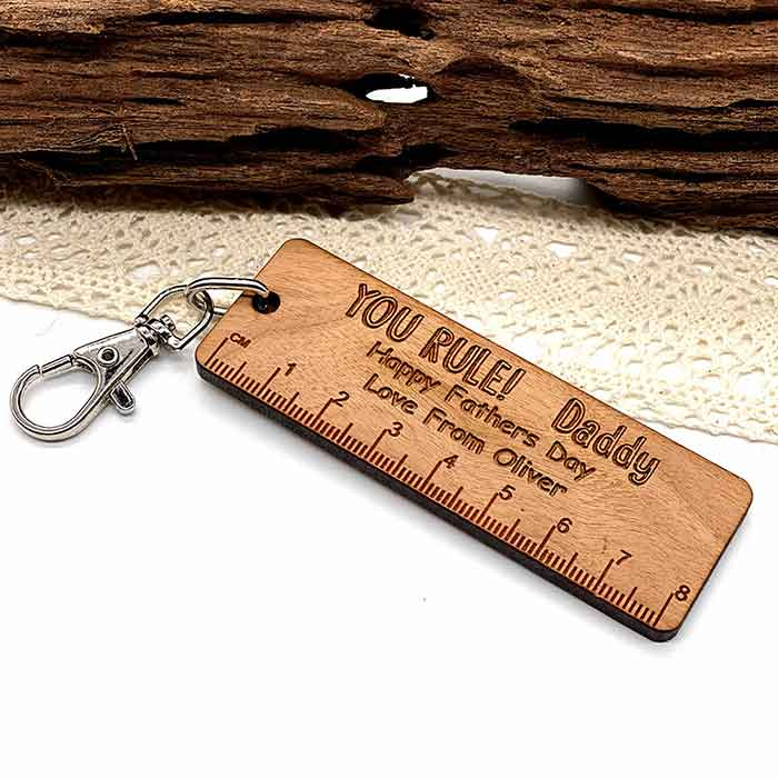 Little Gifts With Love - The Best Daddy I Ever Saw Fathers Day Keyring, Grandad, Birthday Gift For Him