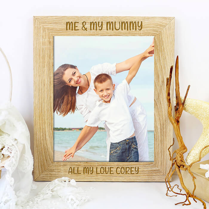 Little Gifts With Love - Personalised Me And My Daddy Photo Picture Frame Fathers Day, Birthday Gift