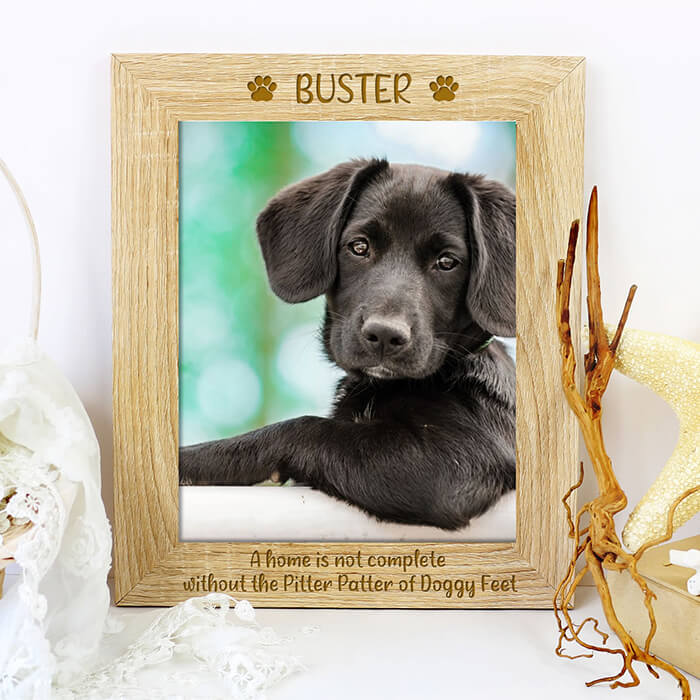 Little Gifts With Love - Personalised Quote Pet Dog Wooden Picture Photo Frame Puppy Keepsake Gift