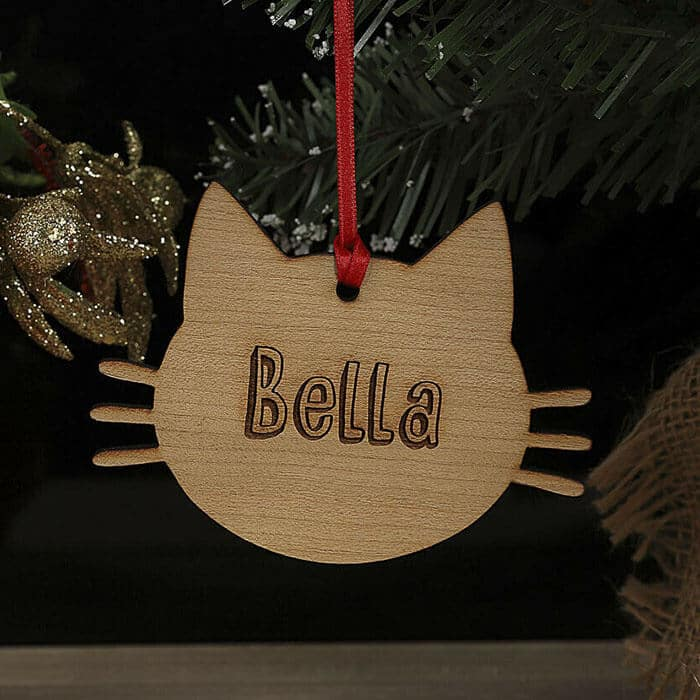 Little Gifts With Love - Personalised Christmas Tree Pet Cat Kitten Decoration Xmas Ornament, Bauble Gift