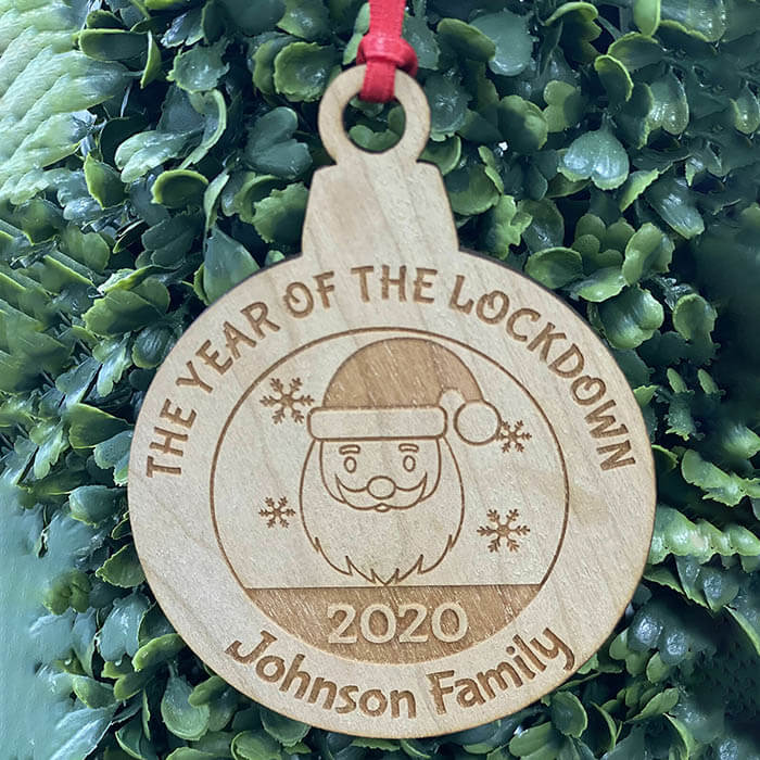 Little Gifts With Love - Personalised Lockdown 2020 Family Christmas Tree Snowman Decoration Bauble Xmas Gift