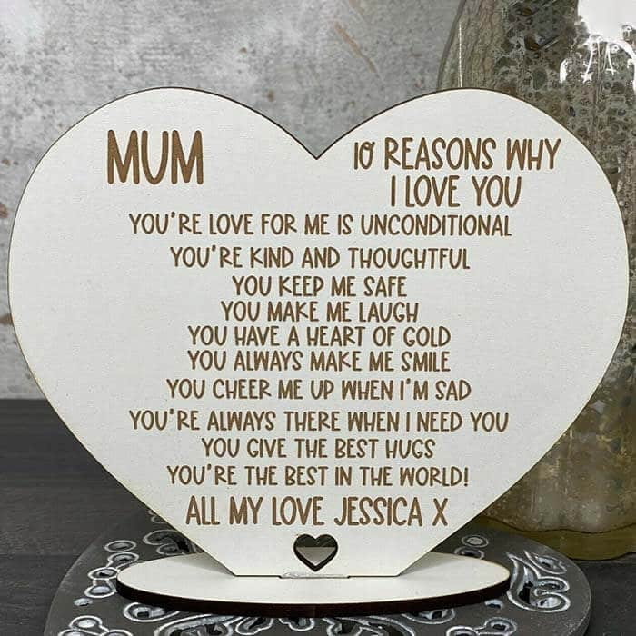 Little Gifts With Love - Personalised 10 Reasons Why I Love You Mum/Mummy, Mothers Day, Birthday Gift