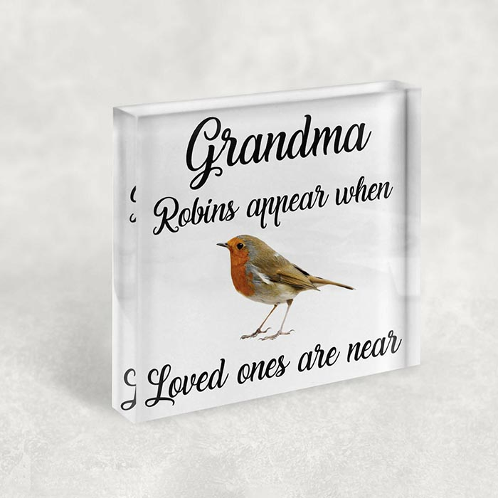 Little Gifts With Love - Personalised Robins Appear When Loved Ones Are Near, Mum, Gran, Grandad Memorial