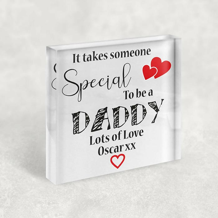 Little Gifts With Love - Personalised Special Daddy, Dad Fathers Day Acrylic Birthday Keepsake Gift