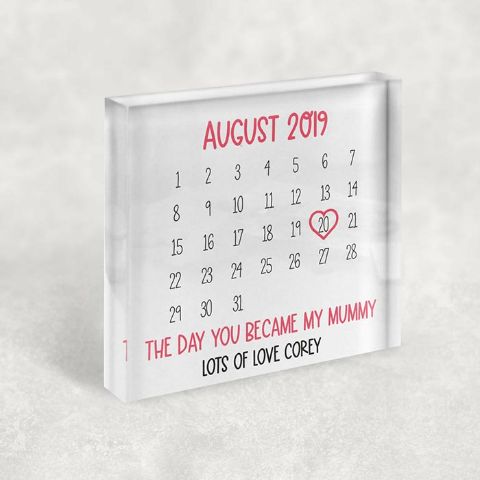 Little Gifts With Love - Personalised The Day You Became My Mummy Mothers Day, Birthday Keepsake Gift