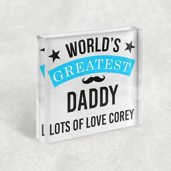 Little Gifts With Love - Personalised World's Greatest Daddy, Dad, Fathers Day, Birthday Keepsake Gift