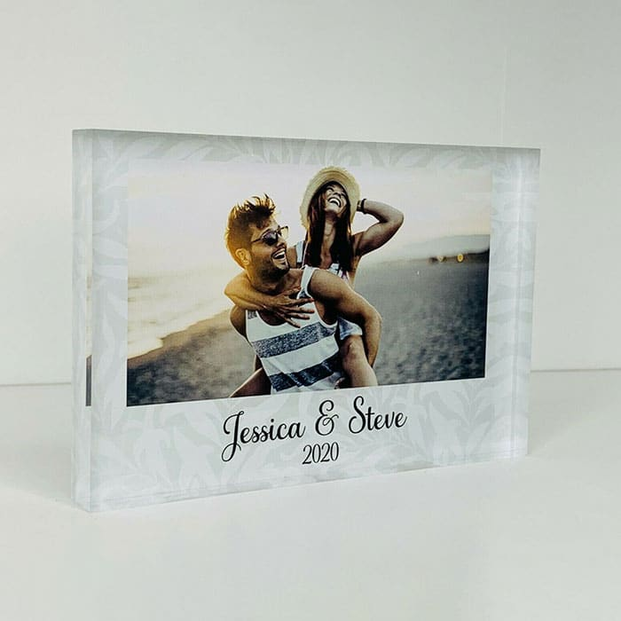 Little Gifts With Love - Personalised Mr & Mrs, Couple Photo Acrylic Block, His & Hers Anniversary Gift