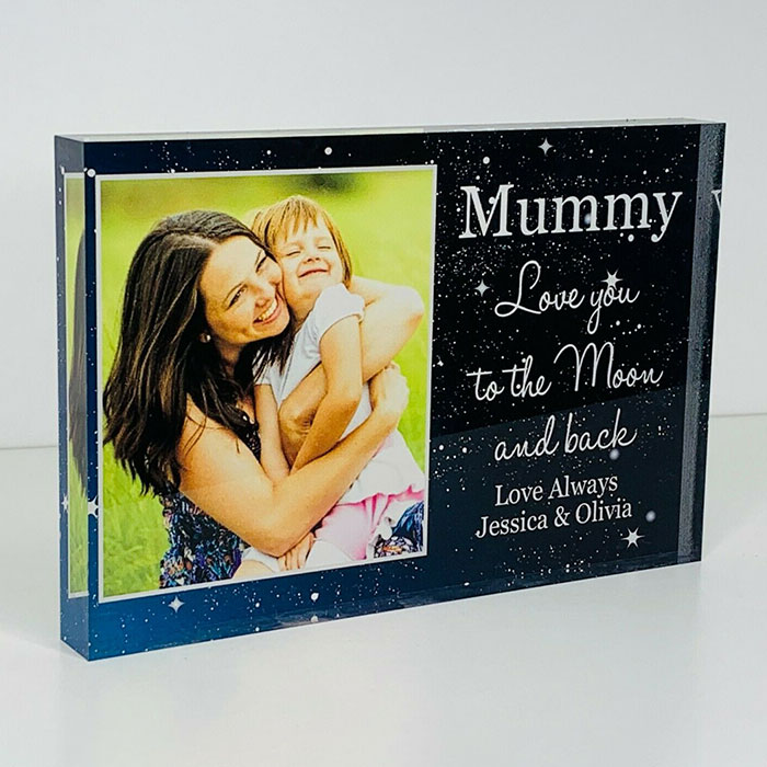 Little Gifts With Love - Personalised Mummy, Mum, Gran Photo Acrylic Block Birthday, Mothers Day, Gift